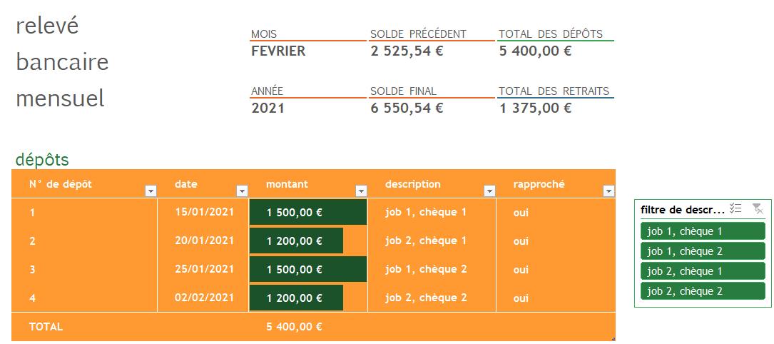 Rapprochement bancaire Excel