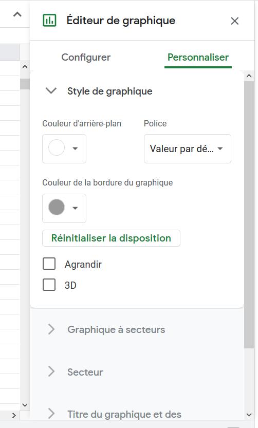 editeur graphique google sheets
